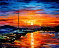 "Original Recreation Oil Painting on Canvas  Title: Sicily - Harbor of Syracuse Size: 36"" x 30"" Condition: Excellent Brand new Gallery Estimated Value: $6,500 Type: Original Recreation Oil Painting on Canvas by Palette Knife  This is a recreation of a piece which was already sold.  The r..."