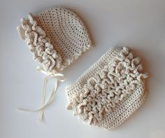 Crochet Pattern for Ruffle Bum Baby Diaper Cover - 3 sizes, Newborn Baby to 12 months - Welcome to sell finished items. $4.95, via Etsy.