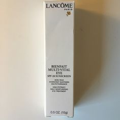 Lancôme Bienfait Multi-Vital Eye SPF 28 Suncreen New!!! Lancome Makeup Eye Primer