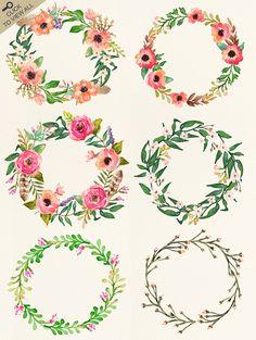 Watercolor flower DI...