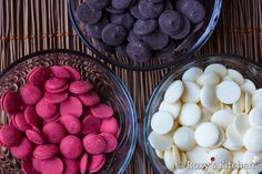 How to Make Modeling Chocolate - White, red and cocoa candy melts