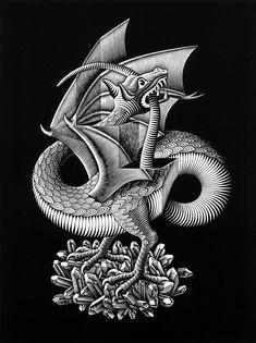 • M.C. Escher - Drago (1952). Palazzo Reale, Milano.