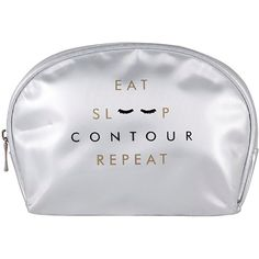 Contour Cosmetics Eat, Sleep, Contour, Repeat Cosmetics Bag &Amp; Free... (173.580 IDR) ❤ liked on Polyvore featuring beauty products, beauty accessories, bags & cases, make up bag, makeup purse, wash bag, toiletry bag and makeup bag case