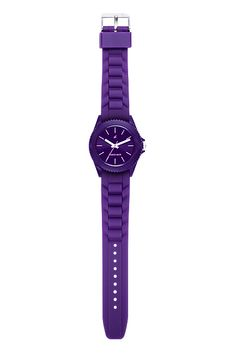 Part of Tees' first colours collection, this all purple watch has a purple case, dial and strap. The branding and the hands provide the contrast in this watch.
