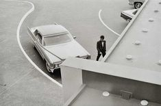 William Eggleston, Untitled (Car and valet from above), 1960-1972