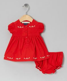 Take a look at this Red Evonne Dress & Diaper Cover - Infant by Periwinkle on #zulily today!