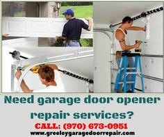 Need garage door opener repair services? Our expert service technicians are ready to help. Schedule a repair online www.greeleygaragedoorrepair.com or call (970) 673-0951 to schedule today.
