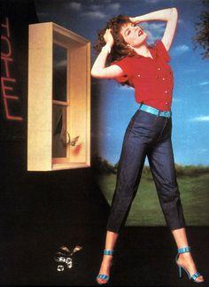 Bonjour Jeans, American Vogue, September 1983. Photograph by Bruce Nemeth.