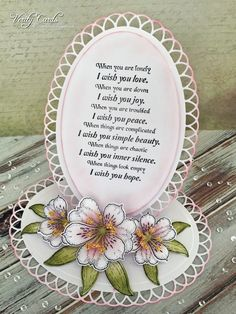 I wish you .... easel card by Liz Walker