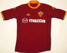 AS Roma (H) ca. It took me about five years to lose enough weight to be able to wear this, even in XXL. Classic Football Shirts, Vintage Football Shirts, As Roma, School Football, Best Games, Old School, Retro Vintage, Soccer, How To Wear