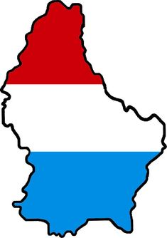Luxembourg flag map