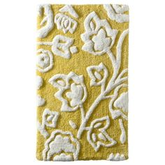 Threshold&#153 Floral Bath Rug - Yellow