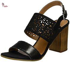CAFèNOIR  Mxl621, sandales femme - noir - noir, 41 EU - Chaussures caf noir (*Partner-Link)
