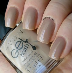 Avon - Gel Finish Barely There. #avon #nude #nails  / AvonAUSNZ / manicure / Style / nail polish / fashionista / trends / beauty / colourful nails / nail polish
