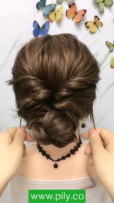 Hairdo For Long Hair, Bun Hairstyles For Long Hair, Braids For Short Hair, Bride Hairstyles, Casual Hair Updos, Party Hairstyles, Hair Tutorials For Medium Hair, Medium Hair Styles, Short Hair Styles