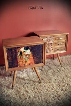 Diseño sixty + Klimt Suitcase Display, Klimt, Credenza, Decoupage, Cabinet, Storage, Projects, Furniture, Home Decor