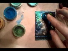Video Tutorial: Polymer clay technique, ...Making polymer clay, Pearlex and chipboard ATC by Gabrielle Pollacco