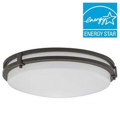 Lithonia Lighting 13 in. Antique Bronze LED Saturn Flushmount-FMSATL 13 14840 BZ M4 - The Home Depot