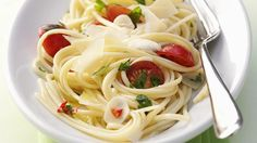 Nudel-Rezept: Spaghetti mit Knoblauch & Tomaten von for me   For me online Germany