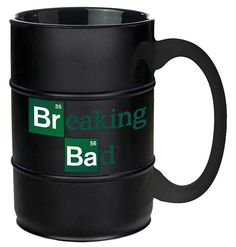 AMC Breaking Bad Barrel Molded Coffee Mug. Drink your morning coffee from a cup that reminds you of your favorite show with this Breaking Bad Barrel Coffee Mug! This barrel shaped ceramic mug holds ap