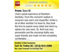 I had a great experience at Dearborn Dentistry. From the moment I walked in everyone was...