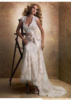 Belle robe 2013 vintage sirène avec manche appliques dentelle