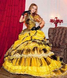 Wedding Dress Fantasy - Yellow Wedding Dress- Available in Every Color Yellow Wedding Dress, Wedding Dress Cake, Custom Wedding Dress, Modest Wedding Dresses, Belle Dress, Infinity Dress, Satin, Fantasy Dress, White Gowns