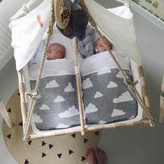 Twin baby swing