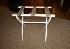 Vintage luggage rack for the guest bedroom #etsy