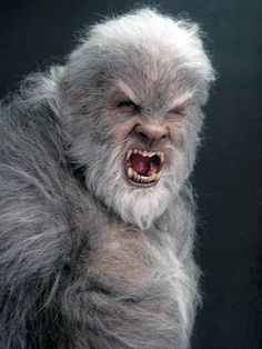 Anthony Hopkins wearing unused Wolfman creature suit. Mix,my two fav things Anthony Hopkins and WOLF!