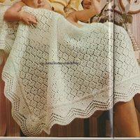 Extrait de: mon tricot N° 14 de 1974 Télécharger « carré pour bébé.pdf »
