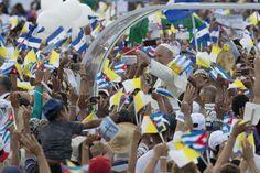 Pope Francis arrives for Mass at Revolution Plaza in Havana, Cuba. September 20, 2015