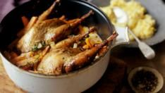 Pot roast pheasant with sweetcorn mash