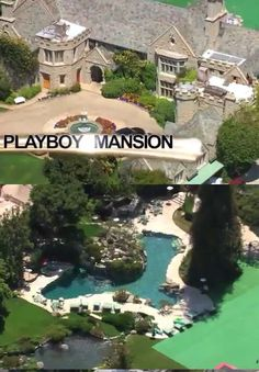 We left the Beverly Hills Hotel and decided to find the Playboy Mansion.  It was only a mile away, but Hef's pad has an exclusive private road leading to the property, go figure right?