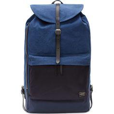 Porter Blue Denim Colorblock Rucksack
