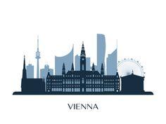 Skyline, Vintage Posters, Austria, Illustration, Sketches, Drawings, Calendar, Bullet Journal, Travel