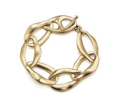 Tiffany & Co Outlet Elsa Peretti Toggle chains Gold Bracelet