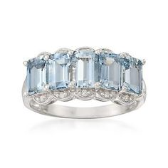 I Love this 2.45 ct. t.w. Aquamarine Ring With Diamonds In Sterling Silver