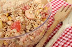 Insalata di cereali con gamberetti patate e pomodorini by Io cucino così with our container Zuccotto #Poloplast