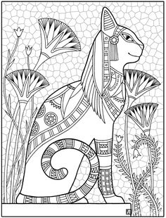 Royal Egyptian Cat - Cats in ancient Egypt were highly revered, in part . - Royal Egyptian Cat - Cats in ancient Egypt were revered, in part because of . - # Egypt # Egyptian Royal Egyptian Cat - Cats in ancient Egypt were revered, te . Cats In Ancient Egypt, Ancient Egyptian Art, Ancient Egypt Crafts, Cat Coloring Page, Coloring Book Pages, Free Coloring, Frida Art, Egyptian Cats, Egypt Art