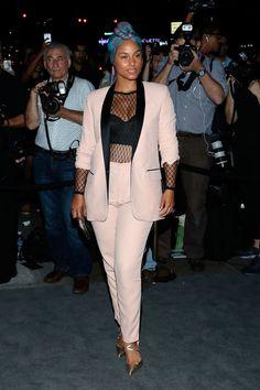 Alicia Keys Slays In A Mesh Top And No Makeup