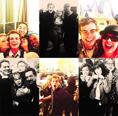 The Criminal Minds cast, in various stages of goofiness