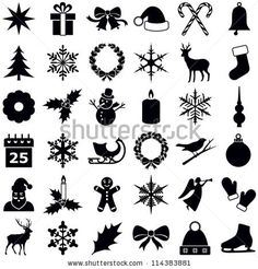 Christmas and Winter icons collection - vector silhouette by Hein Nouwens, via ShutterStock