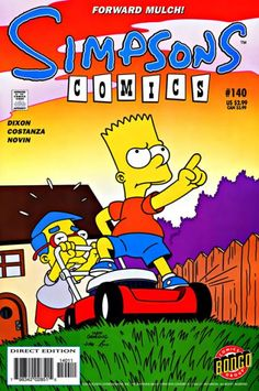 simpsons comic 140 | Simpsons Comics #140 - Mow Money on Comic Collector Connect