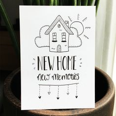 Letter Mugs, New Home Cards, Calligraphy Cards, Karten Diy, Doodle Art Journals, Drawing For Beginners, Creative Journal, Postcard Design, Chalkboard Art
