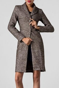 Single Breasted Tweed Coat