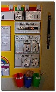 math wall- so doing this! I never thought to put my calendar numbers on a ring! AMEN for the smart brain of this teacher out there! There are some other things in this pic. I plan to snatch too!