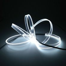 New arrive 10Color Choice 2.3mm-Skirt 1-5M EL wire Rope Led Strip Neon light for Car Party Decoration Powered by 2-AA battery(China)