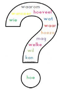 Vraagwoorden - handig overzicht bij bepalen van persoonsvorm/ vraagzijde maken