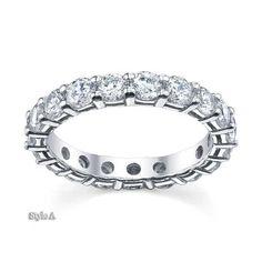 Forever One Moissanite Round Eternity Ring, Eternity Ring Diamond, Eternity Bands, Moissanite Wedding Rings, Forever One Moissanite, Engagement Bands, Silver Diamonds, Wedding Sets, Bracelets, Jewelry
